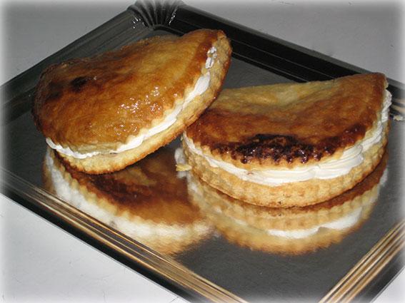 Angelinas de nata y manzana