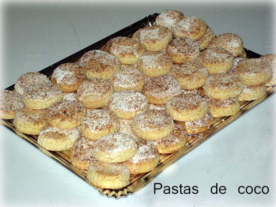 Pastas caseras de coco