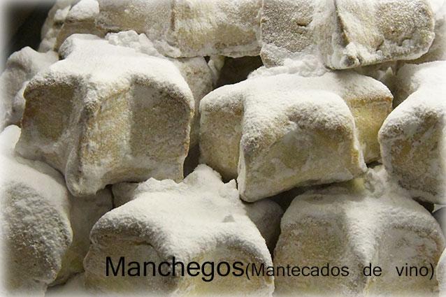 Manchegos (mantecado de vino)