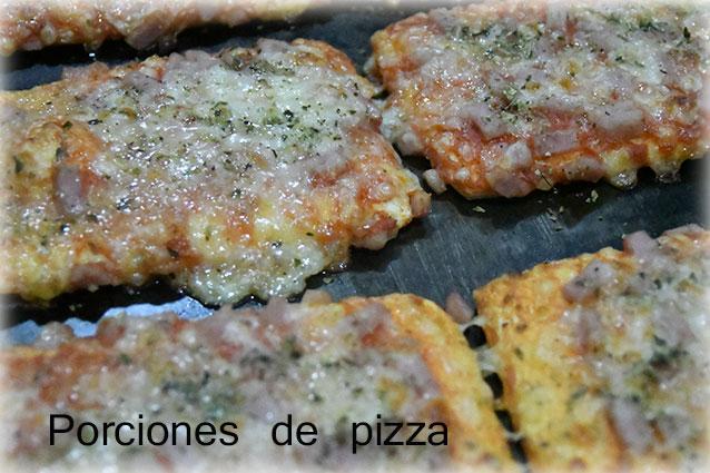 Porciones de pizza