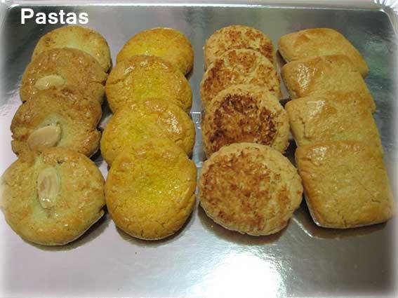 Pastas sin azúcar variadas