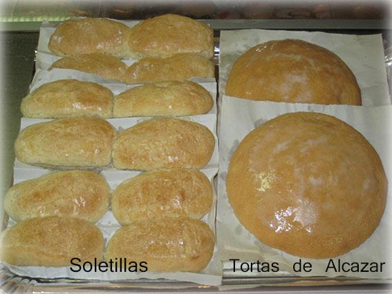 Soletillas y tortas de Alcazar